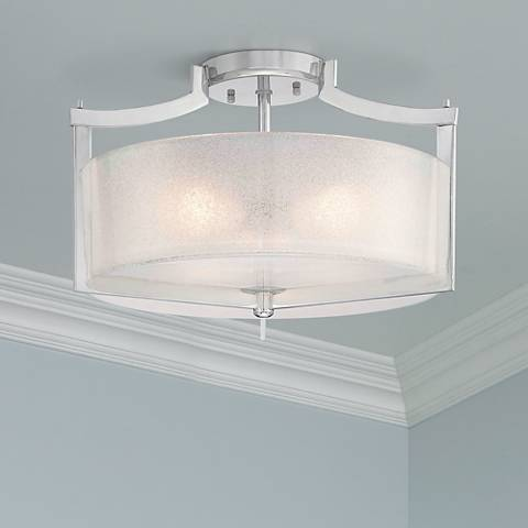 "Minka Lavery Carte 17"" Wide Semi Flush Ceiling Light"