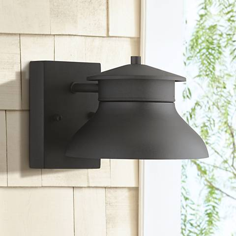 "LED Energy Efficient Black 5"" High Outdoor Wall Light"