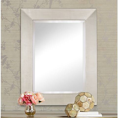 "Brondby Silver 28"" x 36"" Rectangular Wall Mirror"