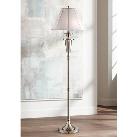 Lucent Brushed Nickel Floor Lamp by Regency Hill