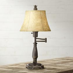 Bronze Finish Swing Arm Lamp by Regency Hill