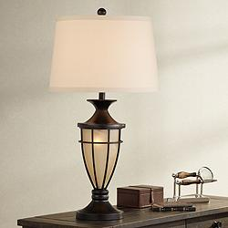 Mission Cage Night Light Urn Table Lamp by John Timberland