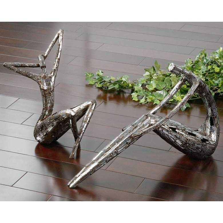 "Dahy 20"" Wide Set of 2 Abstract Statues by Uttermost"