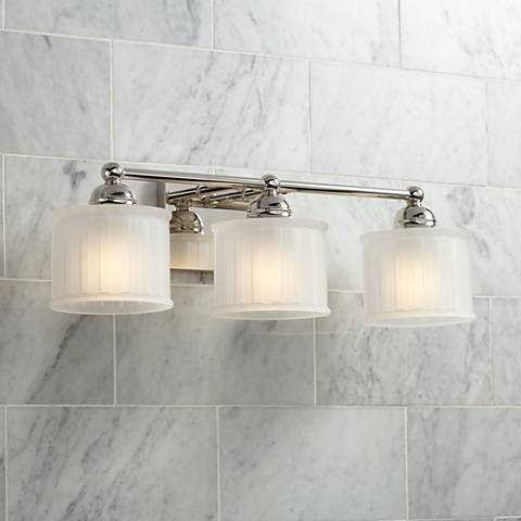 "1730 Series 23 1/4"" Wide Polished Nickel 3-Light Bath Light"