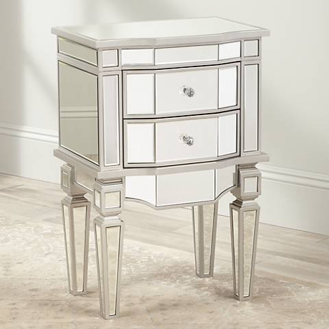 Wilton Mirrored 2-Drawer Accent Table