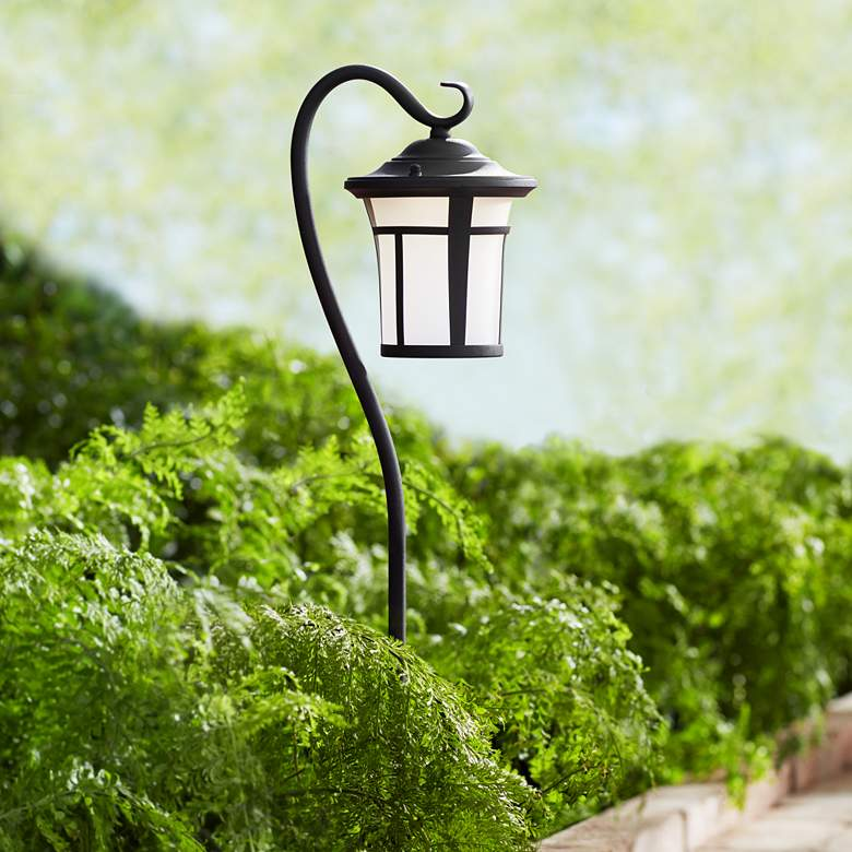 "Shepherd's Hook Black 23"" High LED Landscape Light"