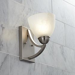 "Possini Euro Milbury 9"" High Marbleized Glass Wall Sconce"