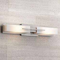 Possini Euro Design Brushed Steel Bathroom Lighting Lamps Plus