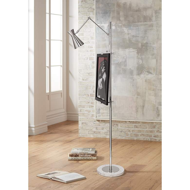 Jonathan Adler Bristol Floor Lamp Easel in Polished