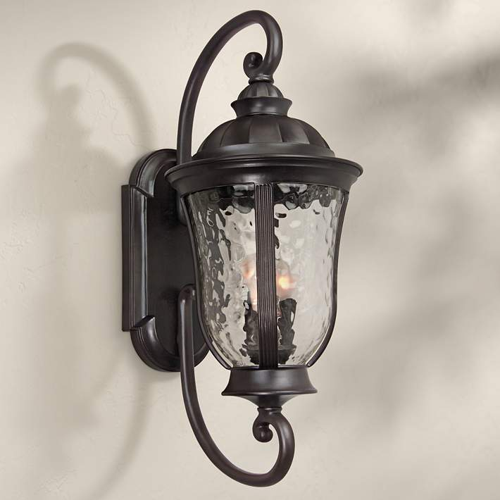 Frances 28 3 4 H Oil Bronze Outdoor Wall Light U2309 Lamps Plus