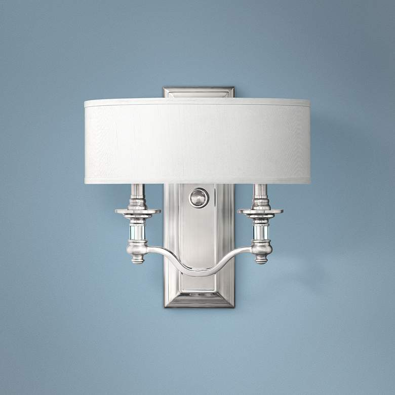 "Hinkley Sussex 14"" High Brushed Nickel Wall Sconce"
