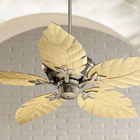 "52"" Quorum Monaco Satin Nickel Patio Ceiling Fan"