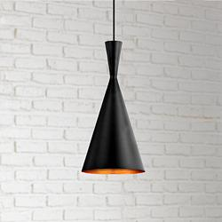 "Bronx 7 1/2"" Wide Black Mini Pendant by Eurofase"