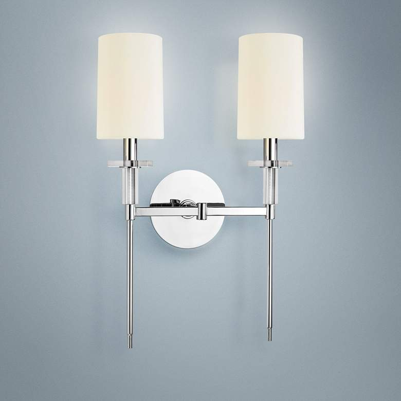 Hudson Valley Amherst Nickel 2-Light Wall Sconce