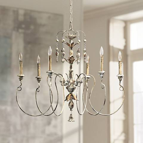 "Quorum Salento 6-Light 32"" Wide Persian White Chandelier"