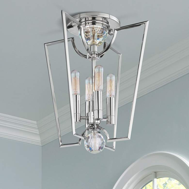Hudson Valley Waterloo Nickel Semi-Flush Ceiling Fixture