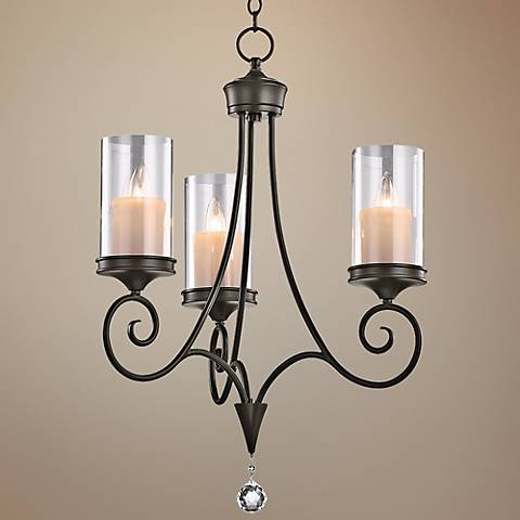 "Kichler Lara Shadow Bronze 20"" Wide 3-Light Chandelier"