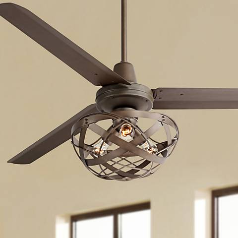 60 Casa Vieja Turbina Oil Rubbed Bronze Ceiling Fan U4514 5n364 91833 Lamps Plus