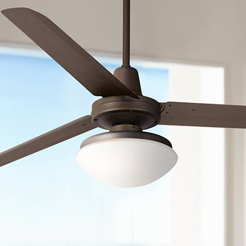 "60"" Casa Turbina Opal Glass - Oil-Rubbed Bronze Ceiling Fan"