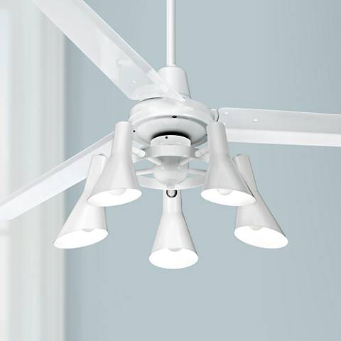 "60"" Casa Vieja Turbina™ White Ceiling Fan"