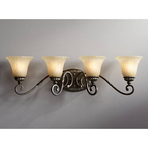 "San Marino Bronze and Gold 32 1/4"" Wide Bath Light"