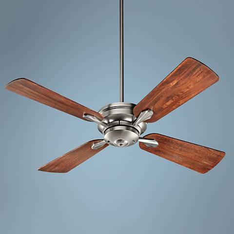 "52"" Quorum Valor Satin Nickel Ceiling Fan"