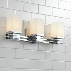 "Bennett Collection Chrome 22"" Wide Bathroom Wall Light"