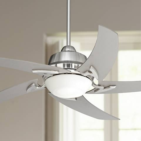 52 casa vieja capri brushed nickel ceiling fan with light u6189 52 casa vieja capri brushed nickel ceiling fan with light aloadofball Gallery