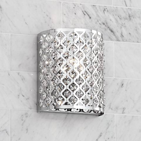 Possini Euro Design Glitz 8 12 High Pocket Wall Sconce U6255
