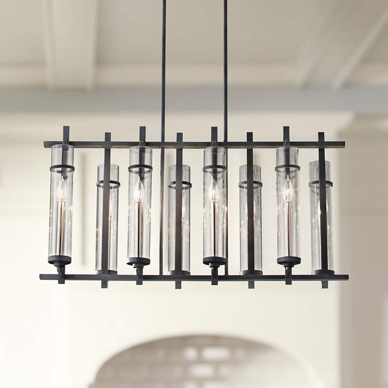 "Ethan 37 1/2""W Forged Iron Kitchen Island Light"