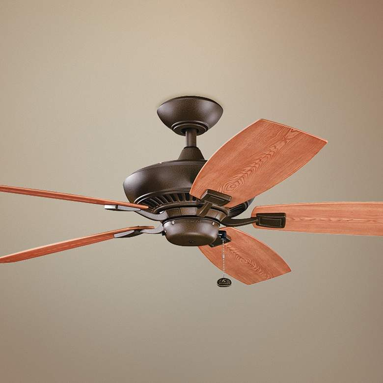 "52"" Canfield Patio Wet Tannery Bronze Ceiling Fan"