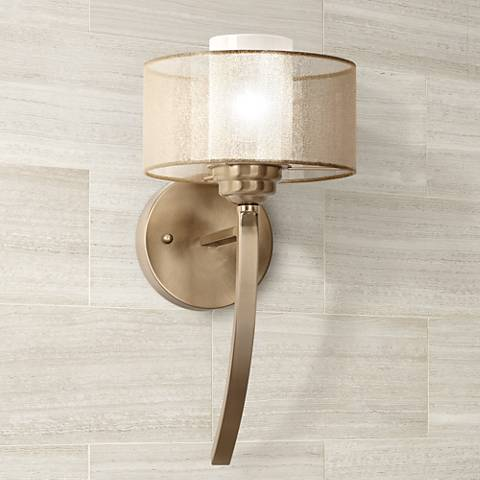 Possini Euro Design Alecia 8 Wide French Gold Wall Sconce U8264