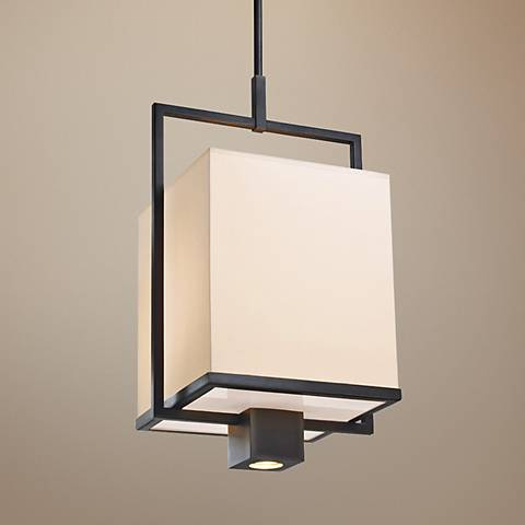 "Sonneman Metro Black 14 1/2"" Wide Modern Pendant Light"