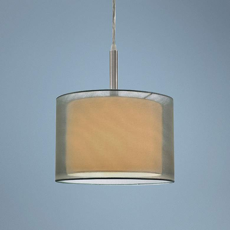 "Sonneman Puri 10"" Wide Satin Nickel Mini Pendant Light"
