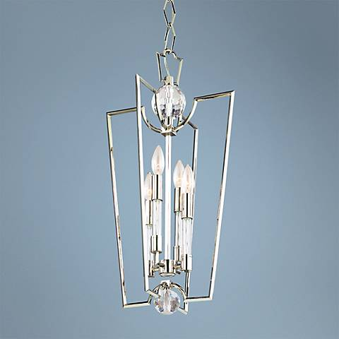 "Hudson Valley Waterloo 25 3/4"" High Polished Nickel Pendant"