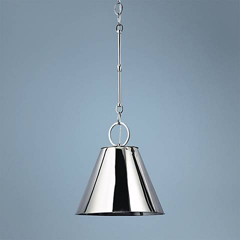 "Hudson Valley Altamont 15"" Wide Polished Nickel Pendant"