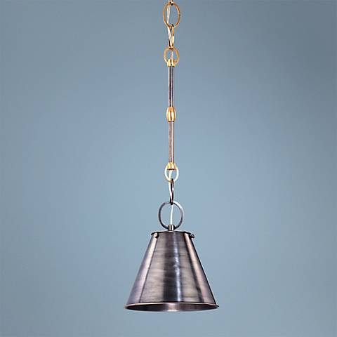 "Hudson Valley Altamont 8"" Wide Dark Bronze Mini Pendant"