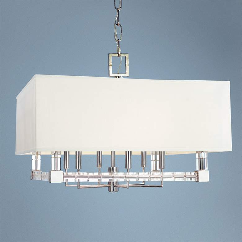 "Hudson Valley Alpine 26"" Wide Polished Nickel Chandelier"