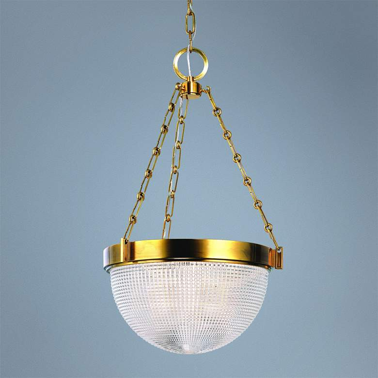 "Hudson Valley Winfield 15 3/4"" Wide Aged Brass Pendant Light"