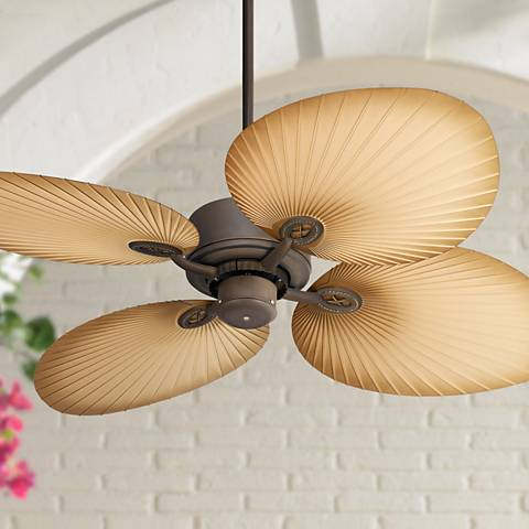 "52"" Casa Vieja Aerostat Wide Palm Outdoor Ceiling Fan"