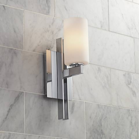 "Possini Euro Ludlow 14"" High Chrome Wall Sconce"
