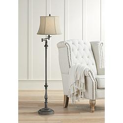 Lite Source Laurence Dark Bronze Swing Arm Floor Lamp