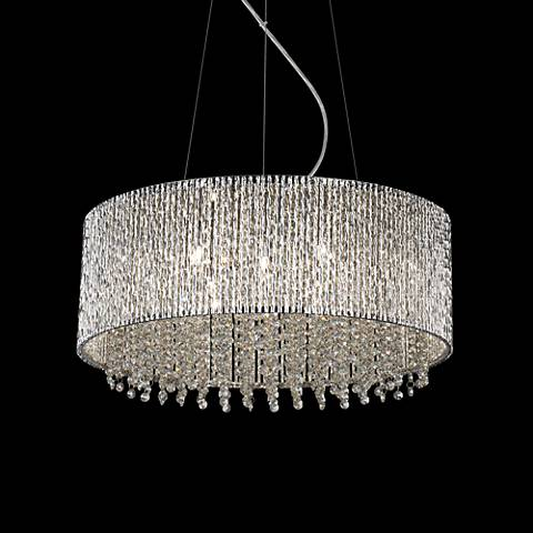 "ET2 Spiral 22 1/2"" Wide 10-Light Chrome Pendant Light"