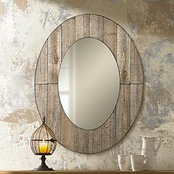 "Mammoth 28"" x 35 1/2"" Oval Wall Mirror"