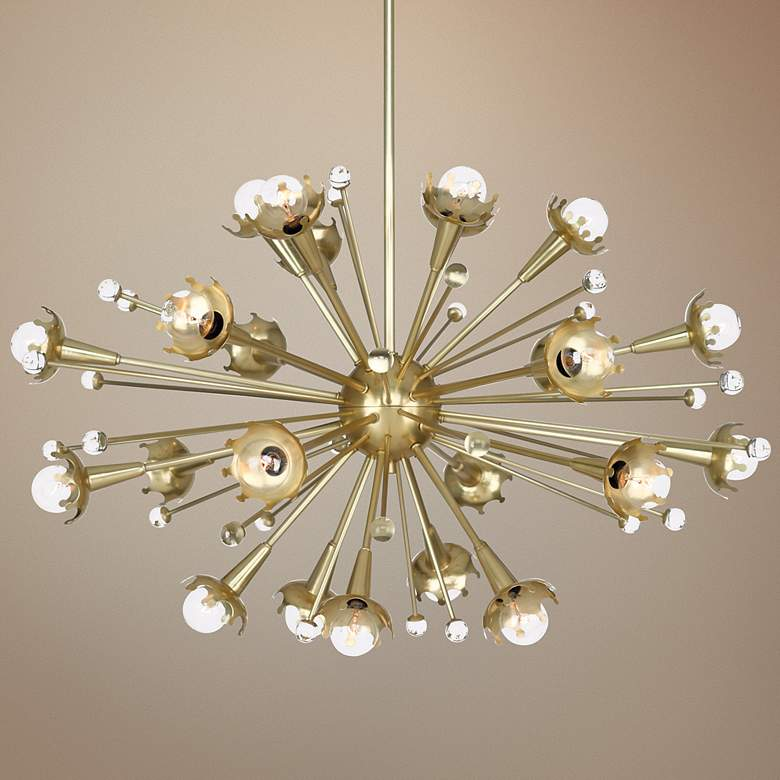 Jonathan Adler Sputnik 24 Light Antique Br Chandelier