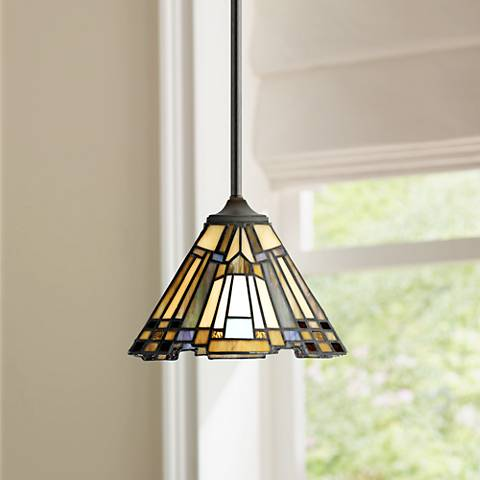 Quoizel Inglenook Art Glass Mini Pendant