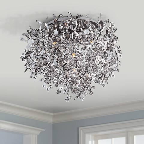 Maxim Comet Collection 25 Wide Chrome Ceiling Light Fixture