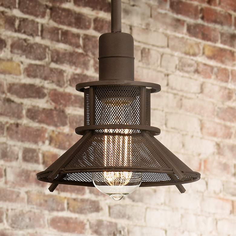 "Glasgow Olde Bronze 8 1/2"" Wide 1-Light LED Mini Pendant"