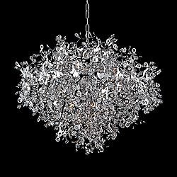 "Maxim Comet 35"" Wide Chrome and Crystal Chandelier"