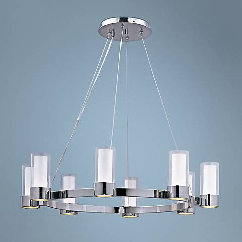 "Maxim Silo 32"" Wide Polished Chrome Chandelier"